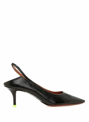 Vetements İnce Topuklu %100 Deri Ayakkabı Siyah